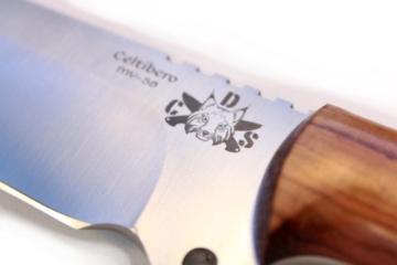 Mod.CELTIBEROCOCO - Premium Qualität - professionell Überlebensmesser, Gürtelmesser, Outdoor/Survival Messer, Jagdmesser, Stahl MOVA-58, Lederscheide + Feuerstahl + Messerschärfer. Entworfen und Hergestellt in Spanien. -